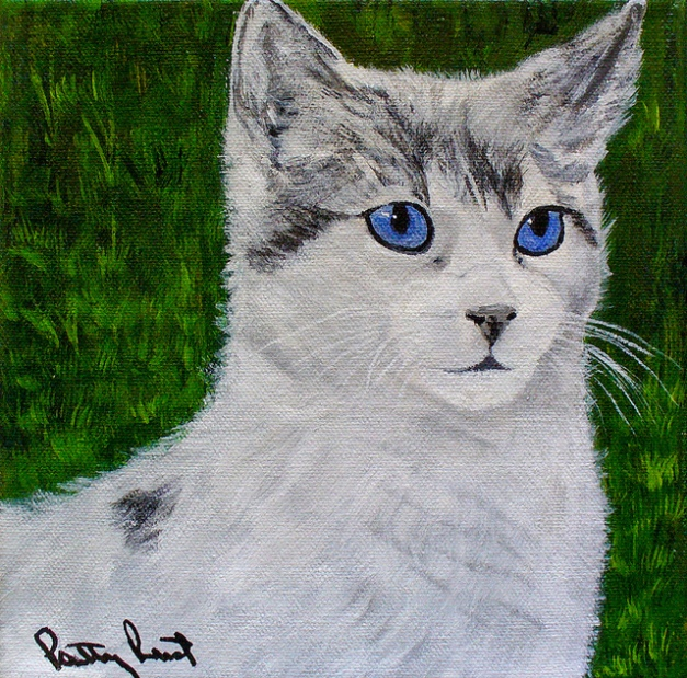 Old Blue Eyes - 8X8, Acrylic on Canvas, 2013