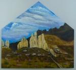 Big Rock- Acrylic on Panel 10X10, 2013