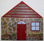 Little Rock House - acrylic on Panel, 10X10, 2013