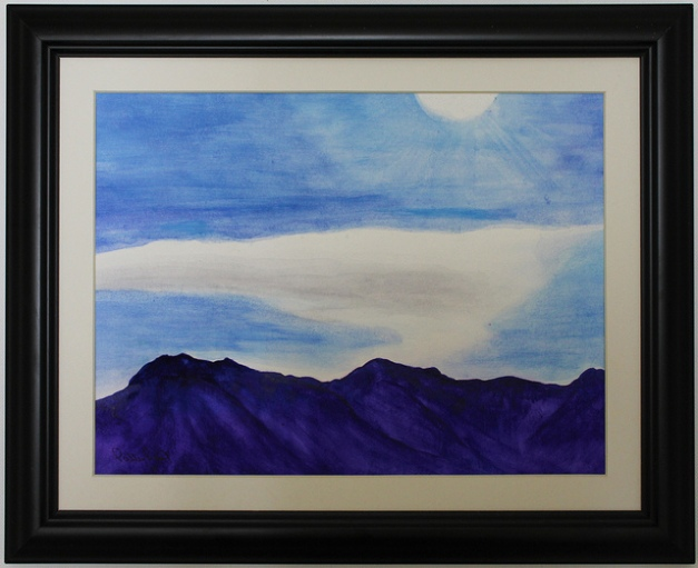 Cloud over the Mountain-11x14, Watercolor, 2013