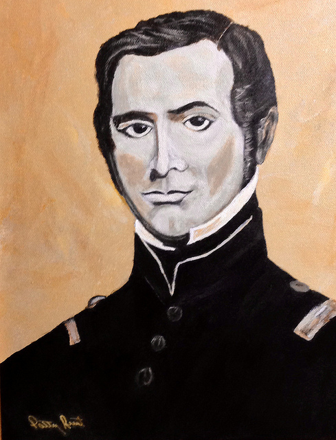 Colonel Ben Milam-11x14, acrylic on canvas, 2013