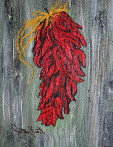 Chili - 3X4, Acrylic on Canvas, 2013