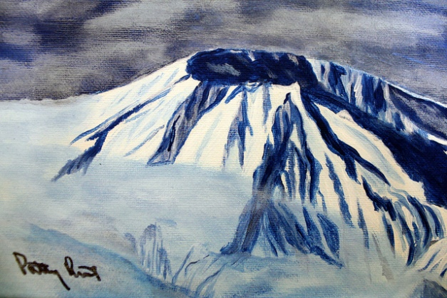 Mount St. Helens - 8x10, acrylic on canvas, 2014