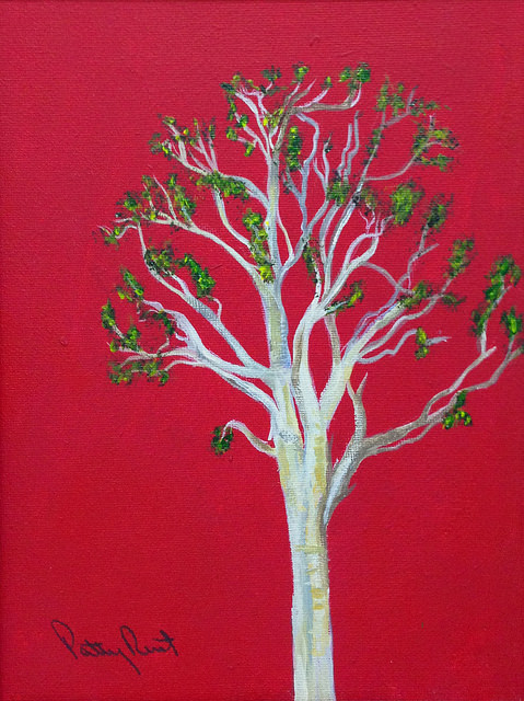 "Tree - 8""x10"", Acrylic on Canvas, 2014"