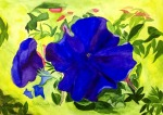 "Petunia - 11""x14"", Watercolor 2016"