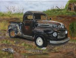 "Don's Old Truck- 11""x14"", acrylic on canvas, 2017 - Unavailable"