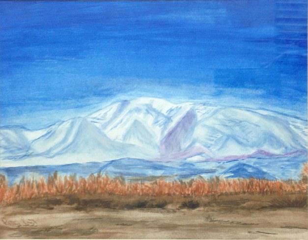 "Franklin Mountains 2- 11""x14"", Watercolor on Paper 2016 - Sold"