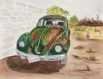 "L's Bug- 11""x14"", Watercolor 2017 - Unavailable"