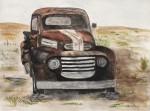 "Vintage Truck- 9""x12"", Watercolor 2017"