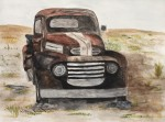 "Vintage Truck- 9""x12"", Watercolor 2017"