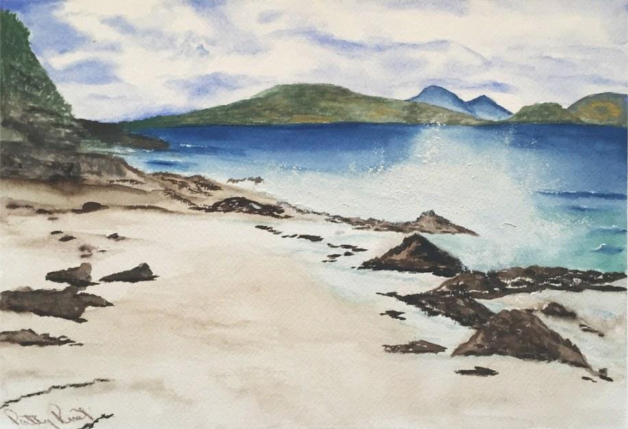 "Beach Waves 8""x10"", Watercolor 2017"