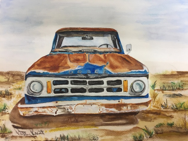 "Old Dodge - 8""x10"", Watercolor 2017"