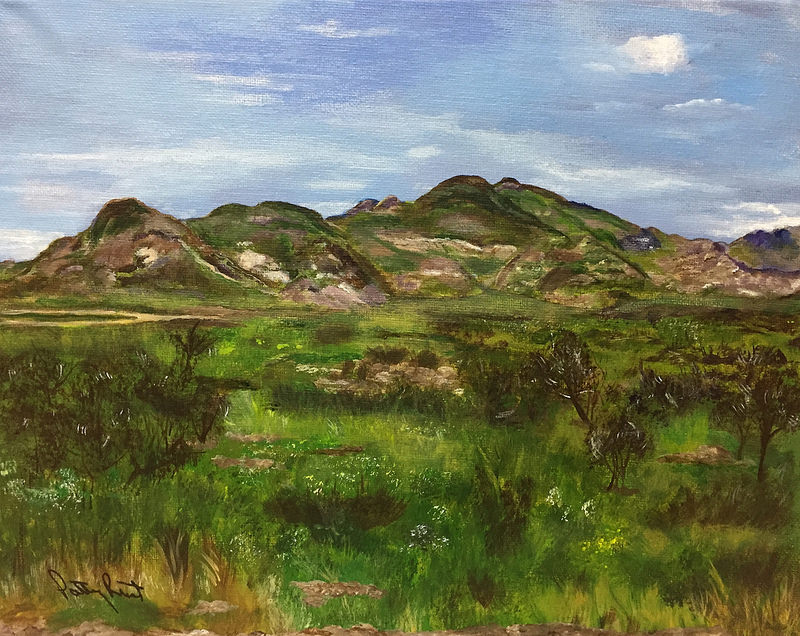 "Mt. Franklin NE 11""x14"", Acrylic 2017"
