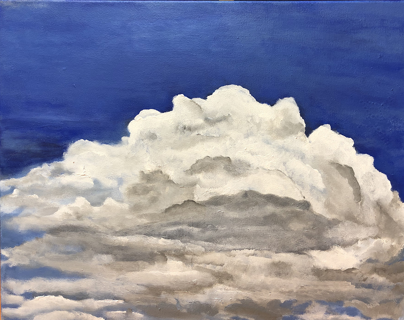 "Clouds For Arlene 14""x16"", Acrylic 2019"