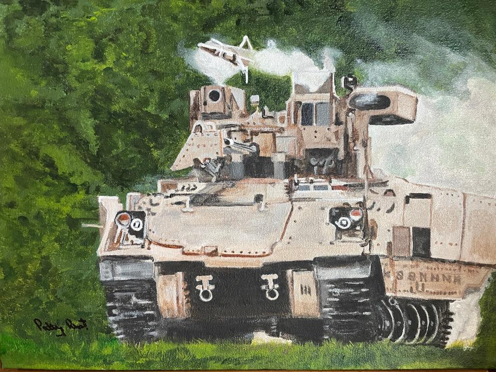 "Daniel's Tank - 12""x 16"" Acrylic on canvas"